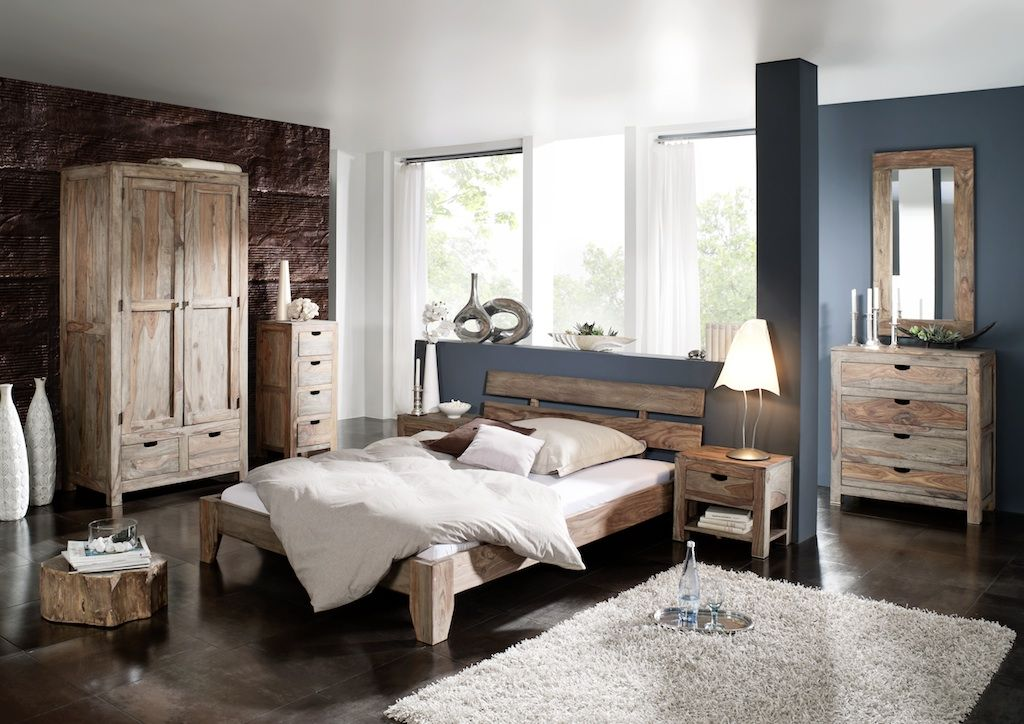 schlafzimmer aus sheesham palisander m bel aus massivem holz serie nature grey onlineshop. Black Bedroom Furniture Sets. Home Design Ideas