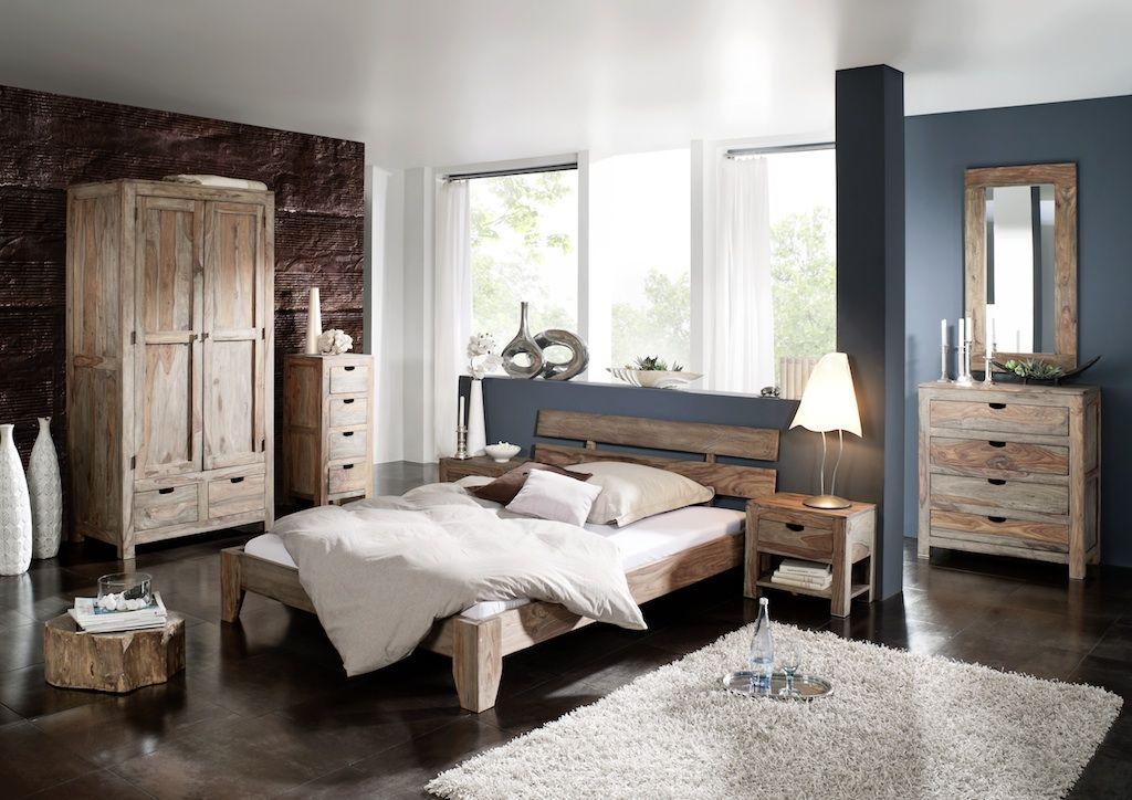 Schlafzimmer aus Sheesham, Palisander / Möbel aus massivem Holz ...
