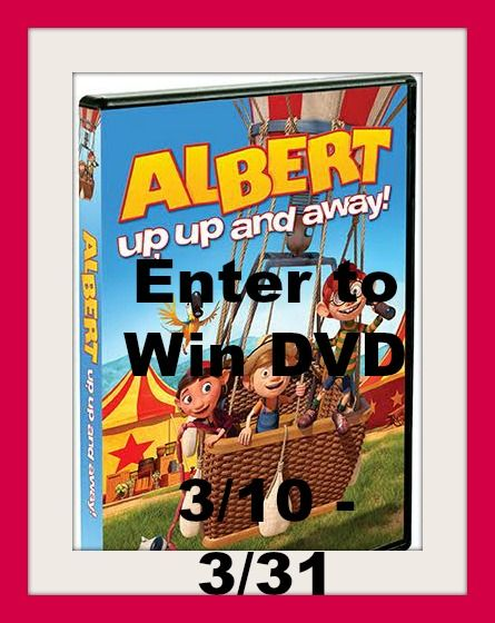 Enter to win a Albert up,up and away DVD (ends 3/31/16)