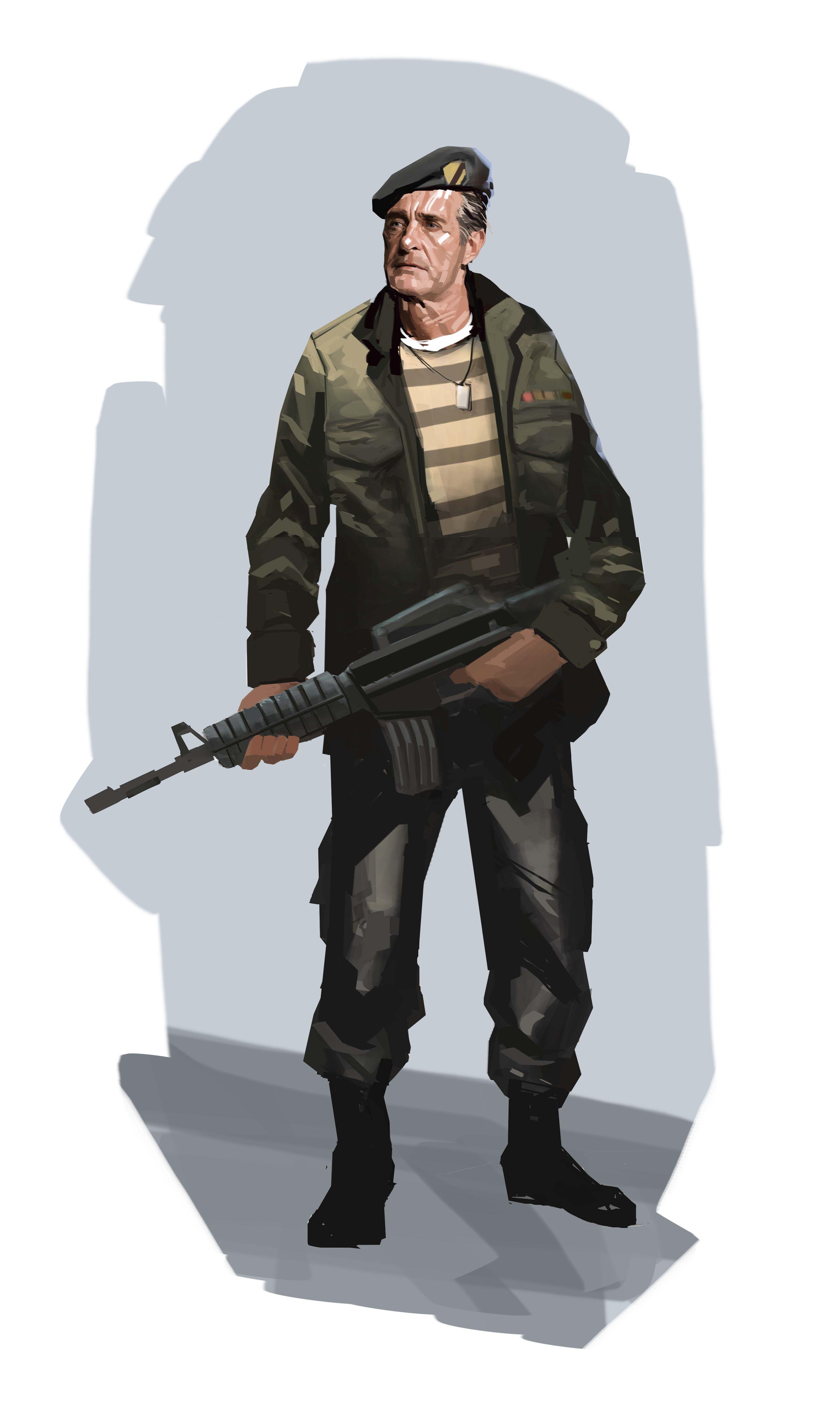 20690 Left 4 Dead Concept art for Bill a Vietnam