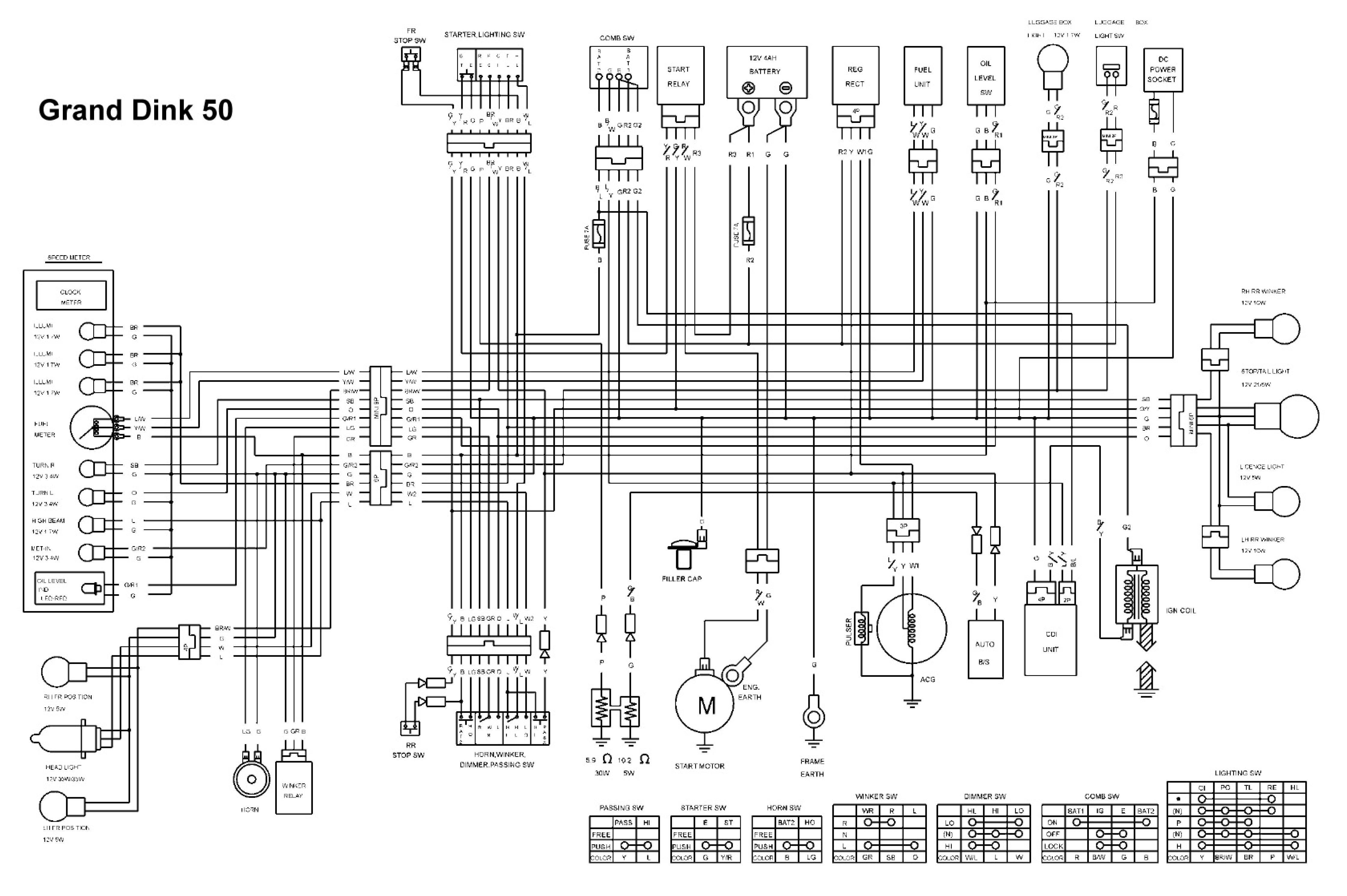 kymco wiring diagram [ 4482 x 2981 Pixel ]