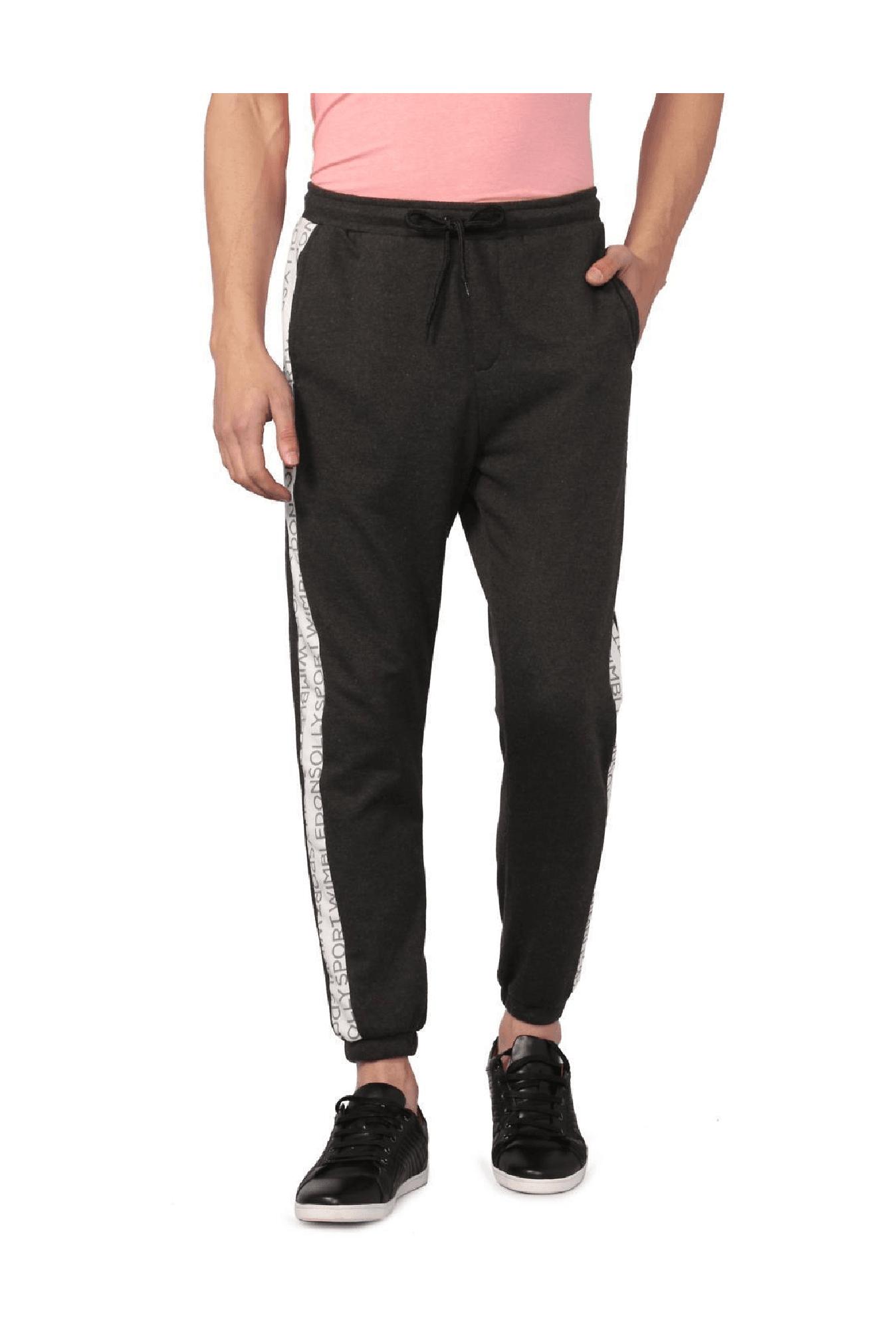 3681071950a Allen Solly Grey Regular Fit Cotton Joggers -