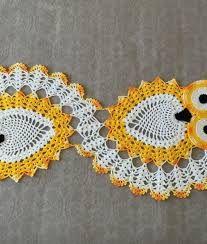 Resultado de imagem para caminhos de mesa coruja croche