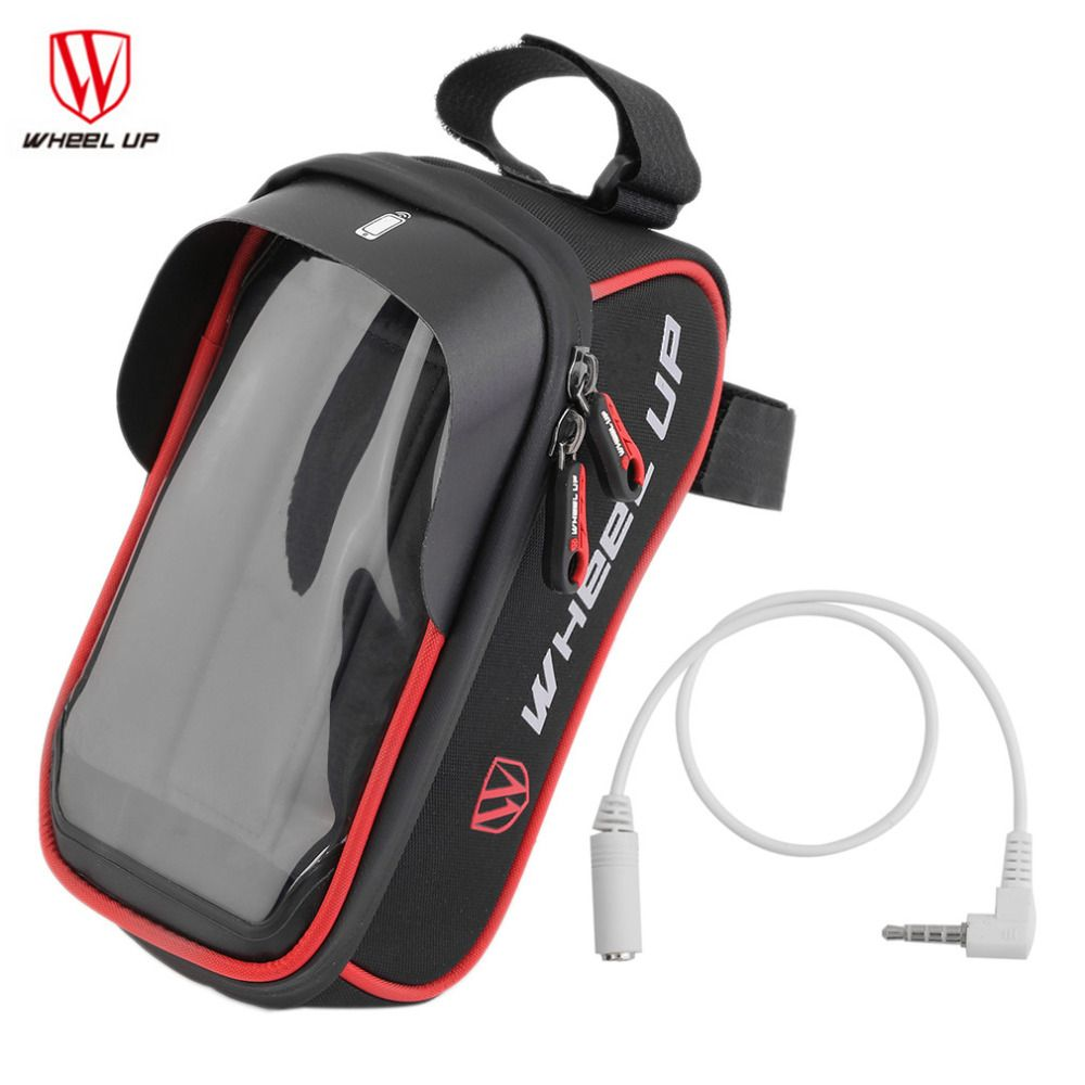 Outdoor Bike Handlebar Bag Bicycle Pannier Frame Tube Cycling Pouch Front Basket