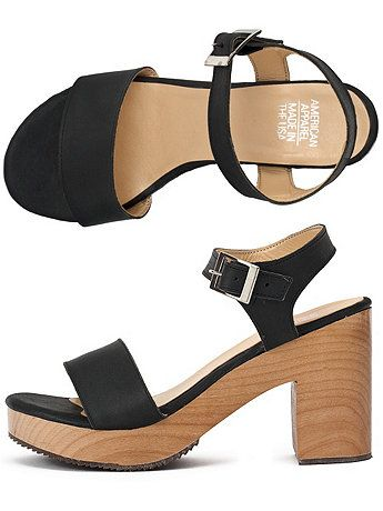 d768adb2154 Wooden Heel Sandal - American Apparel    I want these real