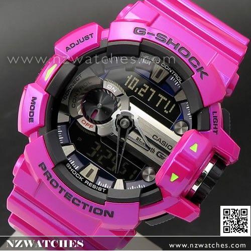a51a81e0b Casio G-Shock Bluetooth G Mix Music Control 200M Shiny Purple Sport Watch  GBA-400-4C