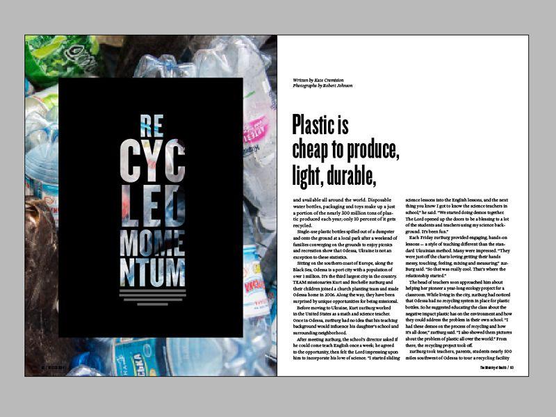2 page magazine spread research