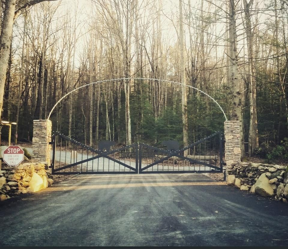 our beautiful entrance in the fall at smoky mountain premier rv