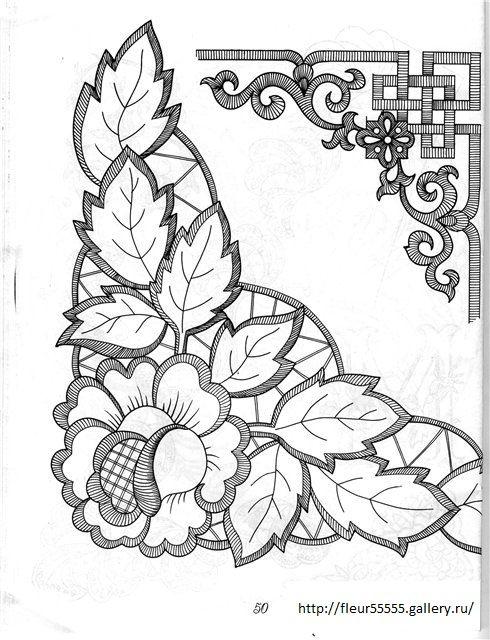 Gallery.ru / Фото #46 - 41 - Fleur55555   Dibujos bordados ...