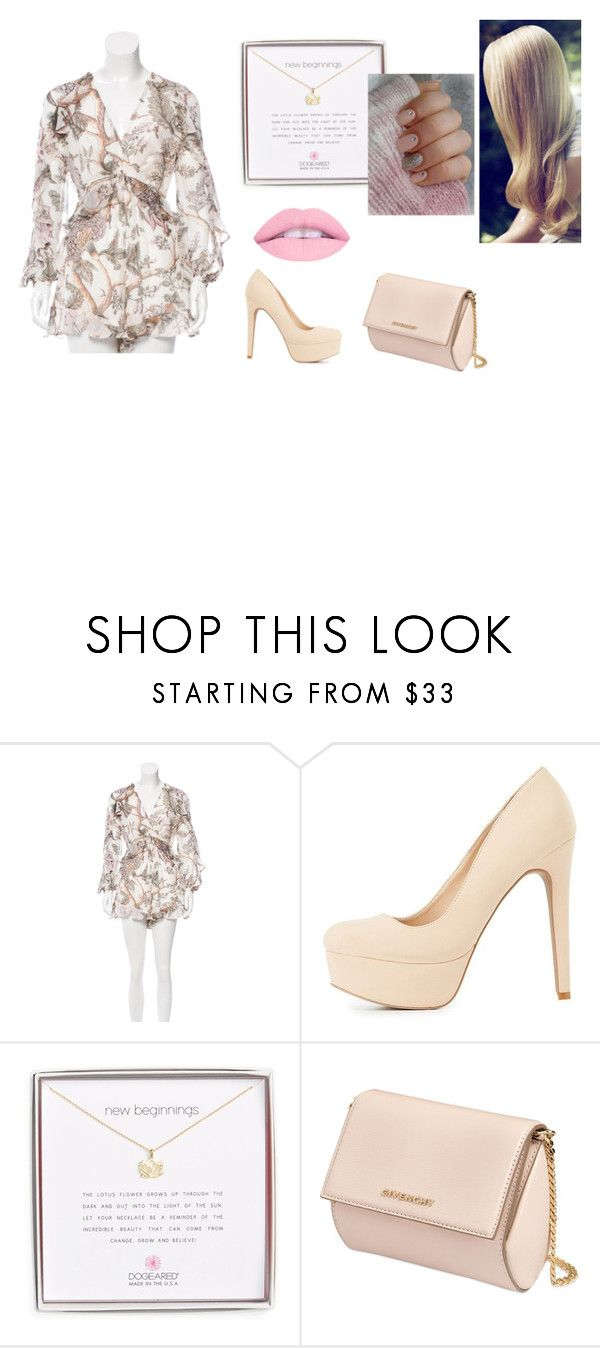 """""""Lotus"""" by xeroxen ❤ liked on Polyvore featuring Zimmermann, Charlotte Russe, Dogeared and Givenchy"""