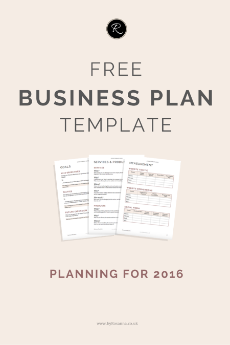 A business plan for 2016 deep well brewing co pinterest free prepare for 2016 with this free business plan template this is perfect for small business owners entrepreneurs and biz bloggers looking to get organised friedricerecipe Gallery