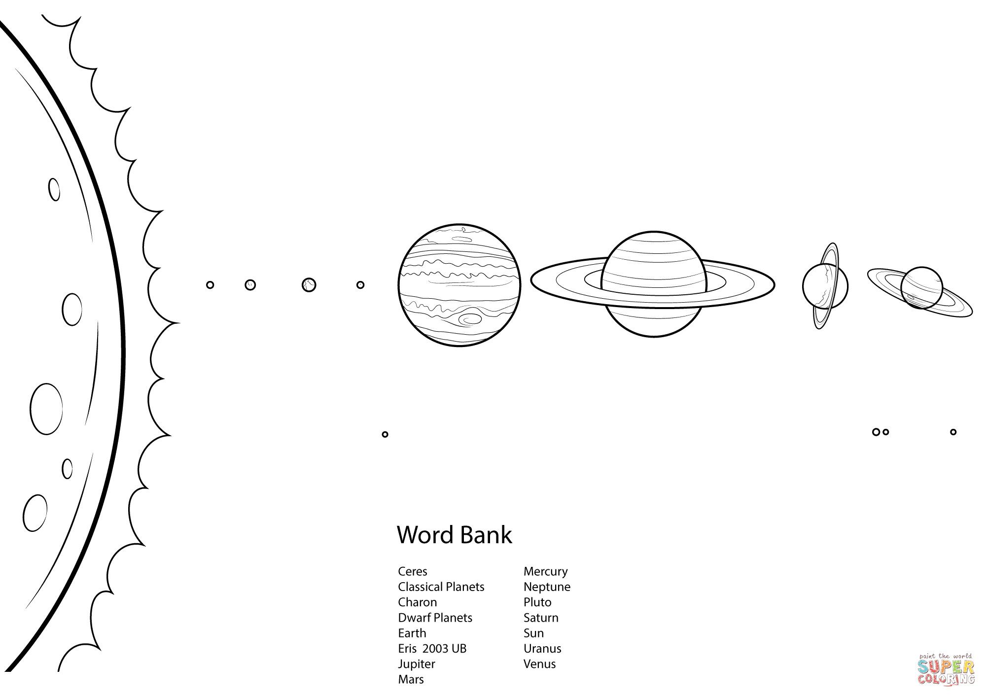 Solar System Coloring Pages New Solar System Worksheet