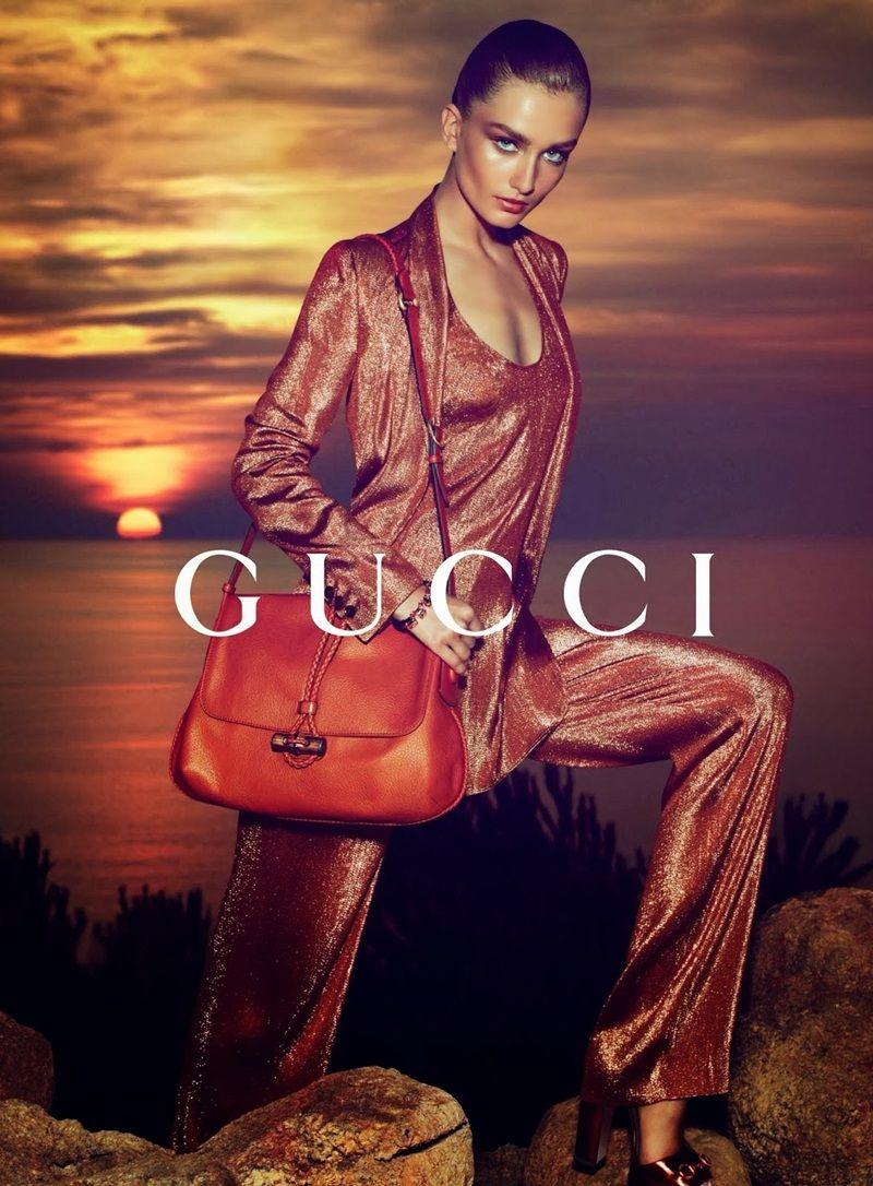 Gucci Resort 2014 Campaign starring Andreea Diaconu