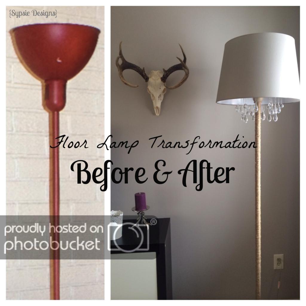 Diy Chandelier Lamp Chandelier Floor Lamp Floor Lamp Makeover