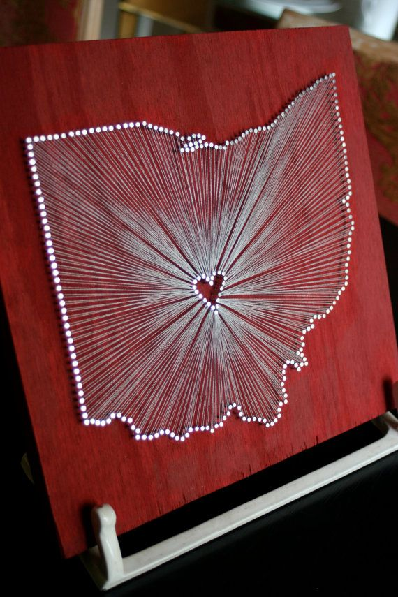 Ohio Love // Nail and String Tribute to The Buckeye by cwrought, $80.00