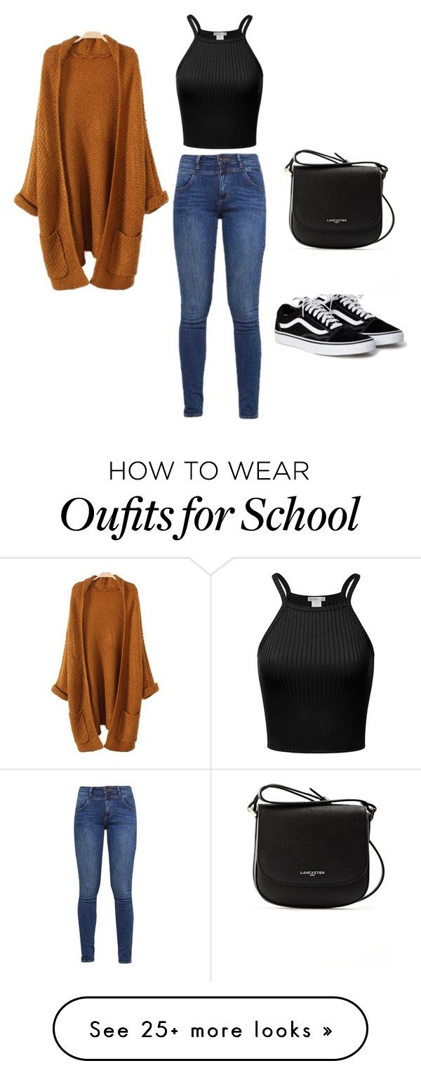 """""""School Look"""" by hanna-reissenweber on Polyvore featuring s.Oliver and Lancaster"""