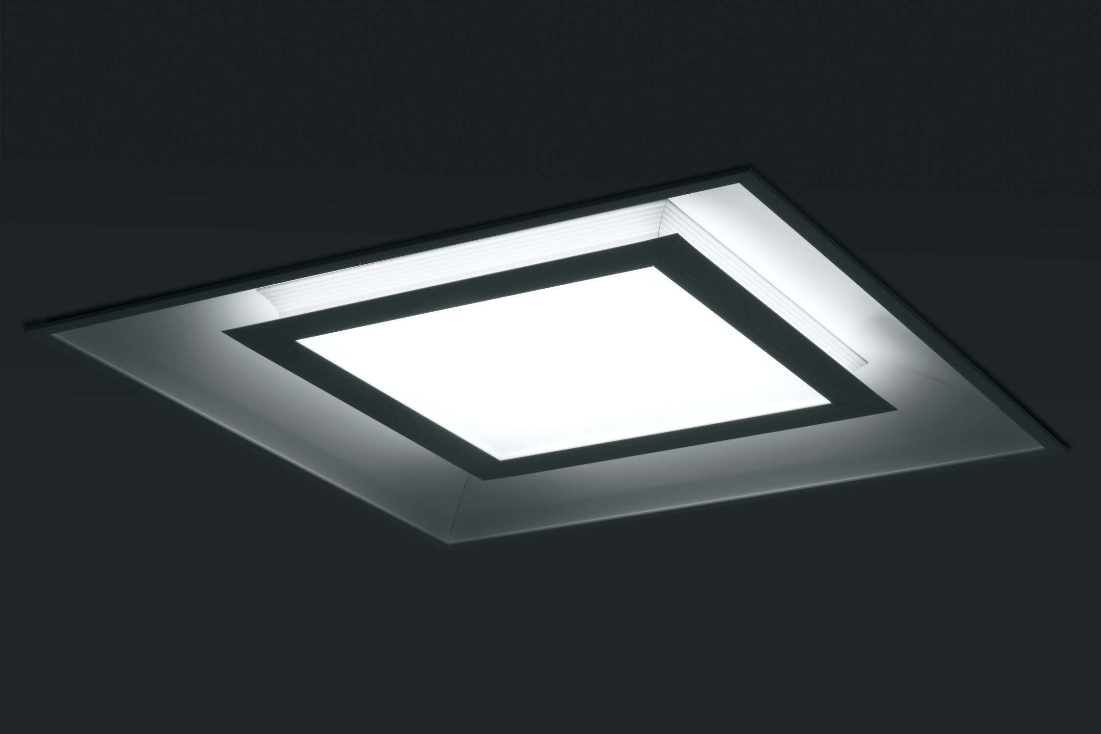 Square Ceiling Lights Soft Curves Meet Straight Lines In This Arts