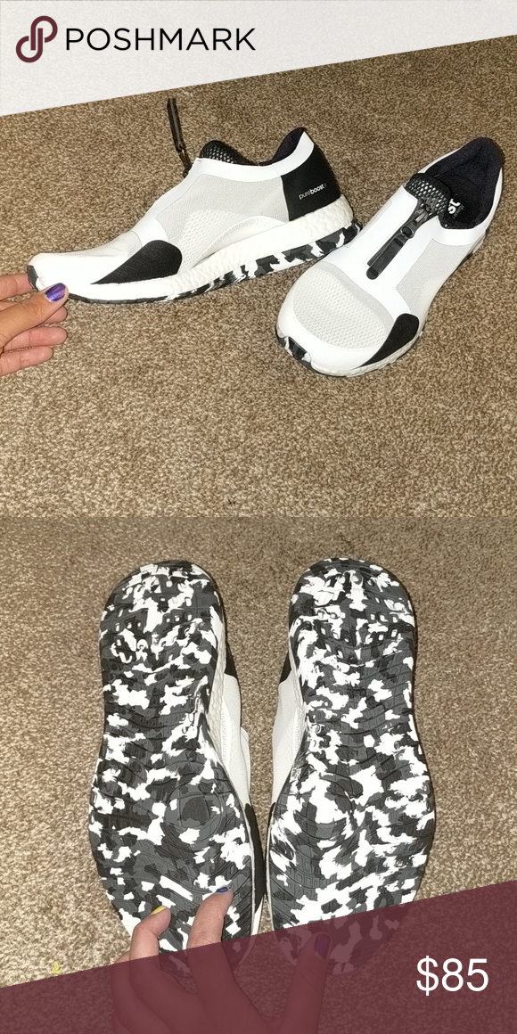 c0447c3d82f92 ... buy adidas pureboost black and white camo i order these online and they  didnt fit.