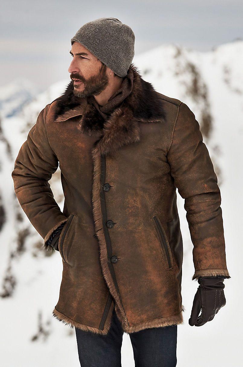 Xander Distressed Toscana Sheepskin Coat in 2020