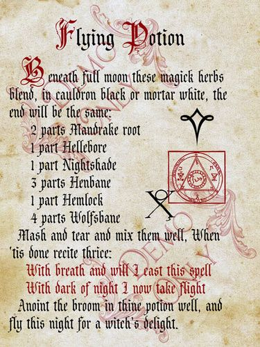 Warning! This potion is for reference only  Some ingredients