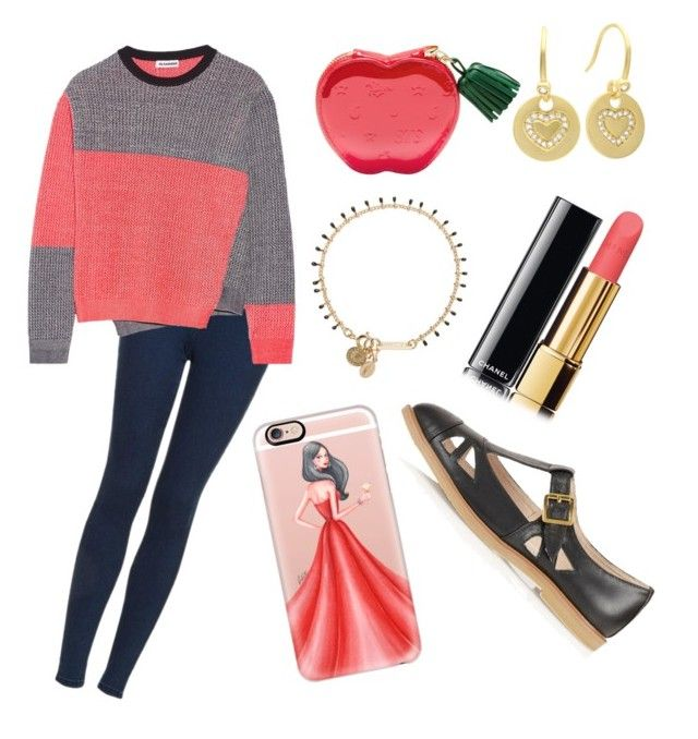 Fun times by elisenotelsie on Polyvore featuring polyvore fashion style Jil Sander Topshop Isabel Marant Sterling Essentials Casetify Chanel clothing