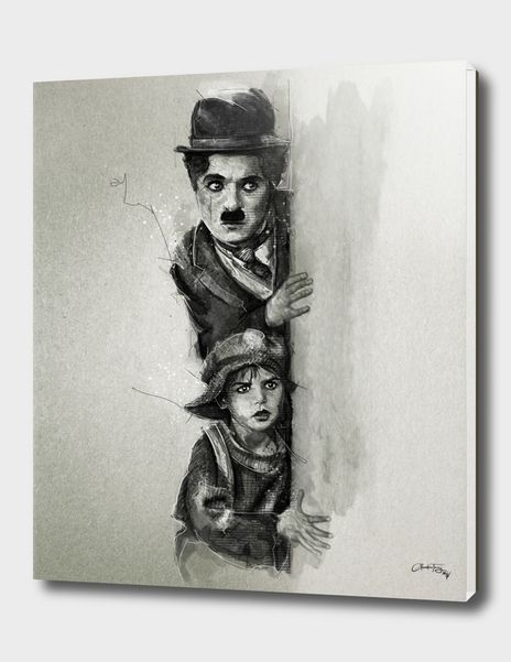 «Charlie Chaplin - The Kid» Acrylic Glass Print by Claudio Tosi - Limited Edition from $99 | Curioos