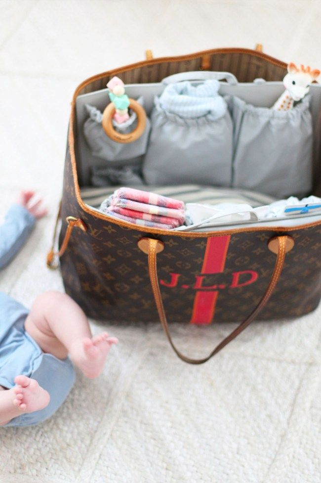Turn your favorite Louis Vuitton Neverfull GM or MM into a fully functional diaper  bag with 1ef2e0f58d5be
