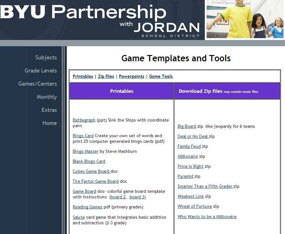 online game templates