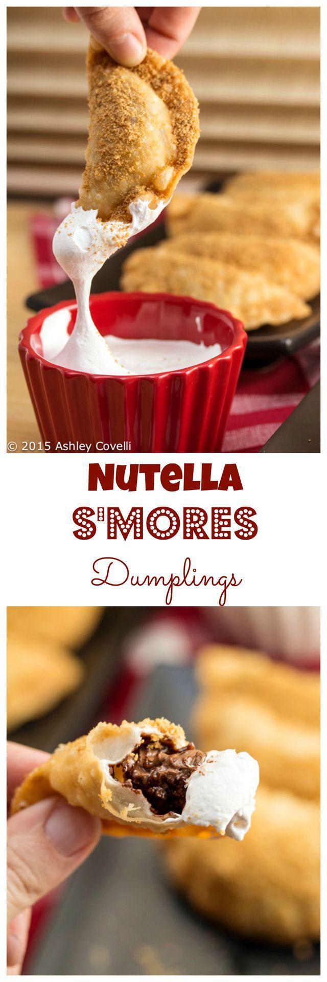 Nutella S'mores Dumplings Recipe Deep fried desserts