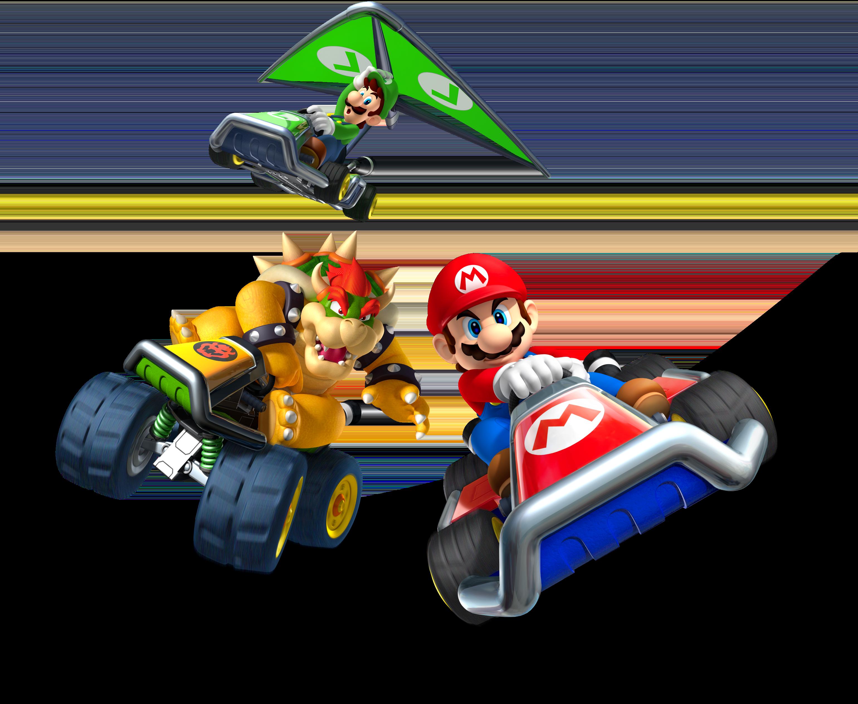 File Mariokart3ds Artwork1 Png Mario Kart Nintendo World Mario