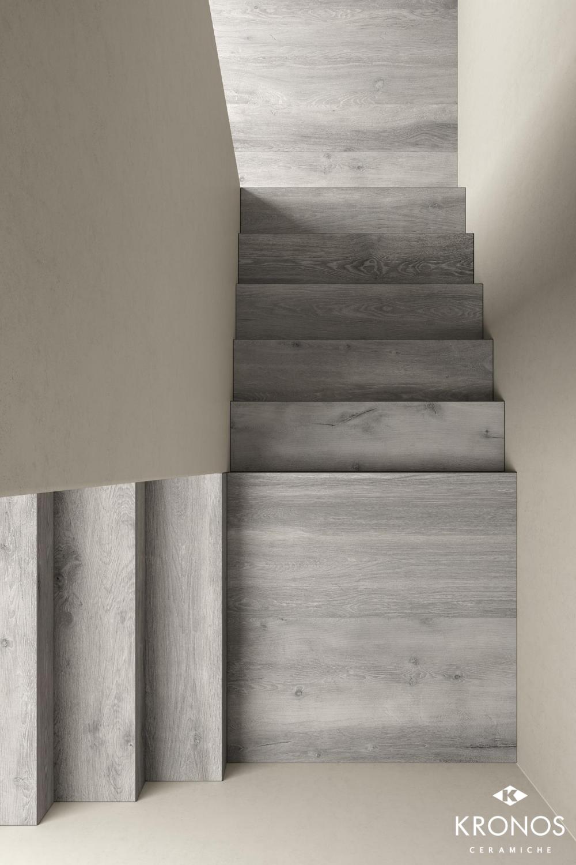 wood look tiles stairs design
