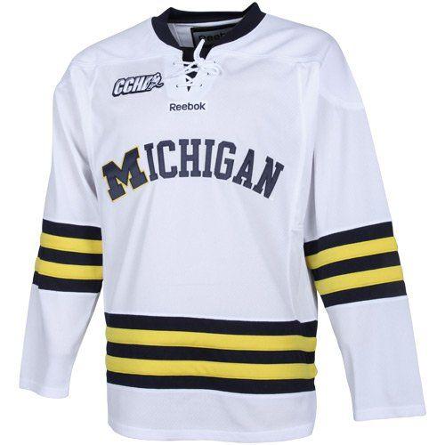 meet 37462 e3c91 NCAA Reebok Michigan Wolverines Premier Lace-Up Hockey ...