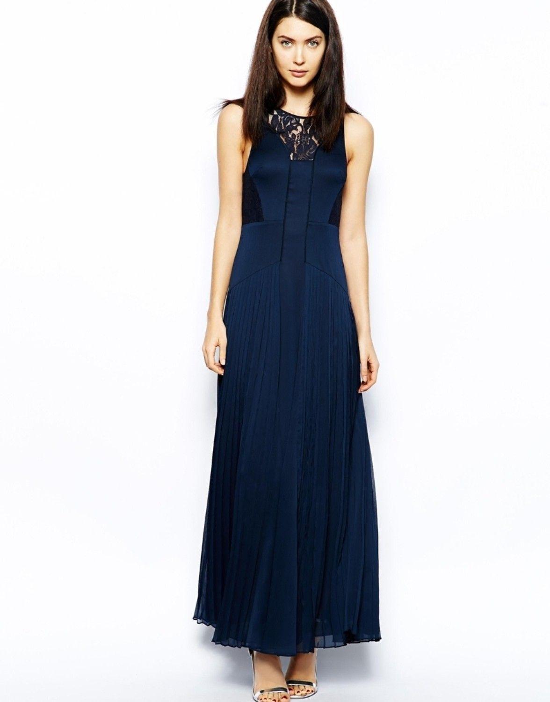 Liebemode Women's Maxi Dark Blue Dress - Buy Dark Blue Liebemode Women's  Maxi Dark Blue Dress Online at Best Prices in India | Flipkart.com