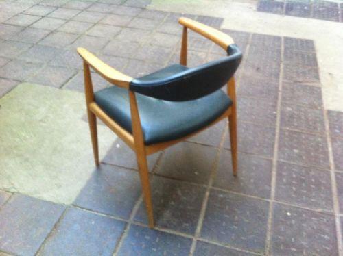 Schöner Stuhl 50Er Leder Holzstuhl Armlehnenstuhl Armchair Sessel