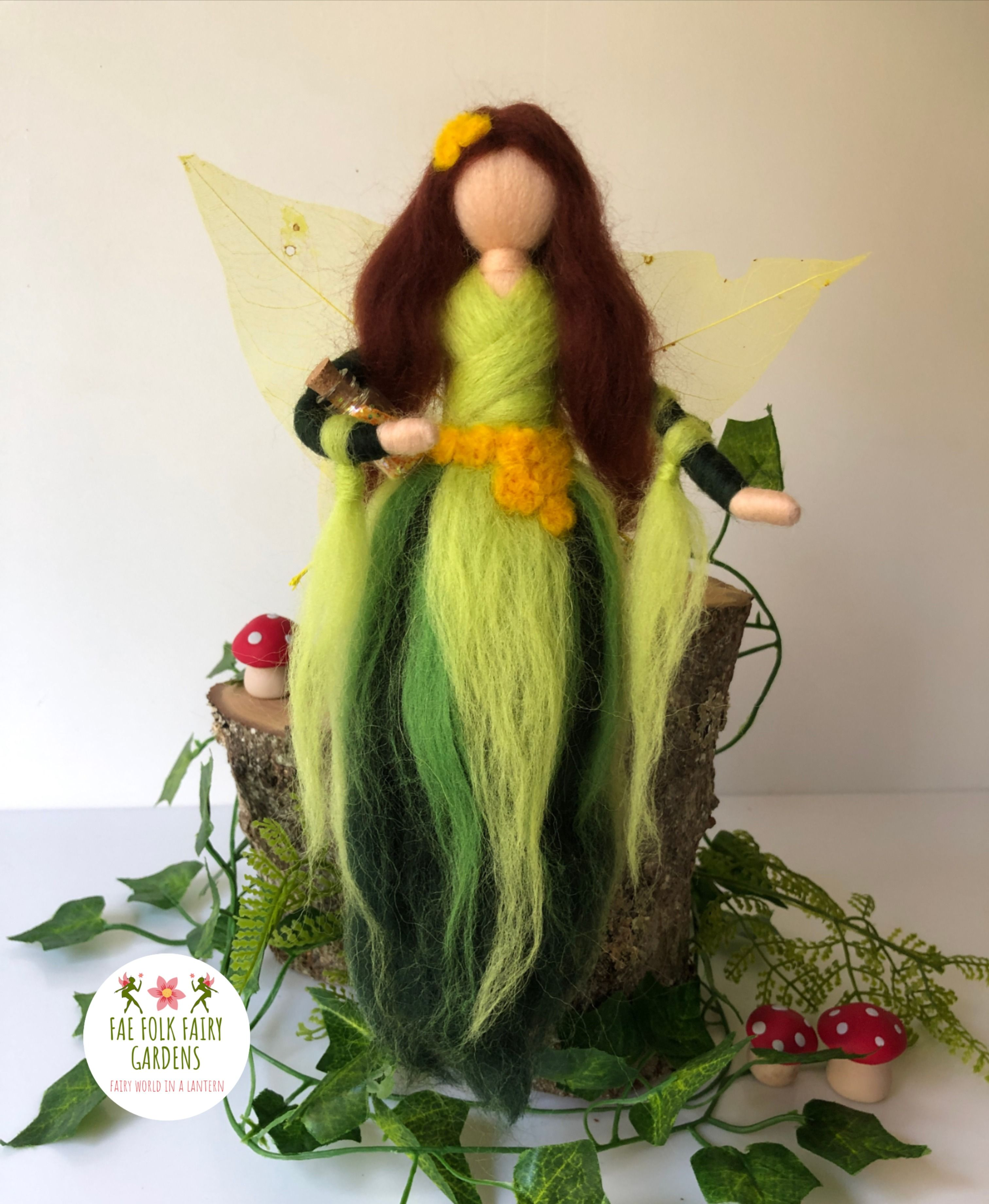 Needle felted woodland fairy