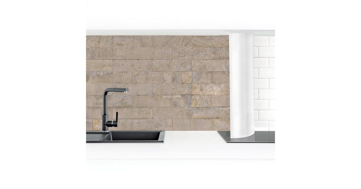 Photo of Imagery of the kitchen back wall »brick wallpaper concrete« OTTO