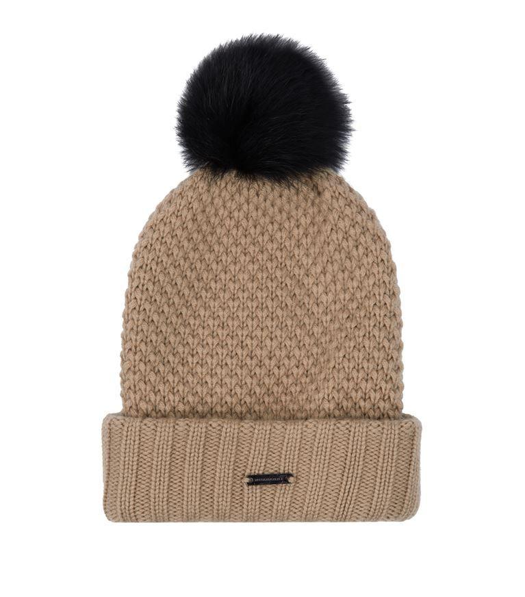 7228a822100 BURBERRY Fur Pom Pom Wool Cashmere Beanie Hat.  burberry ...