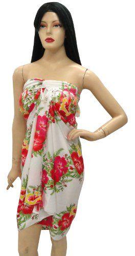 fdfaf188c2 $19.99 Erotic Hibiscus Printed Pareo Beach Sarong Wrap Swim Towel Spring Resort  Dress From La Leela