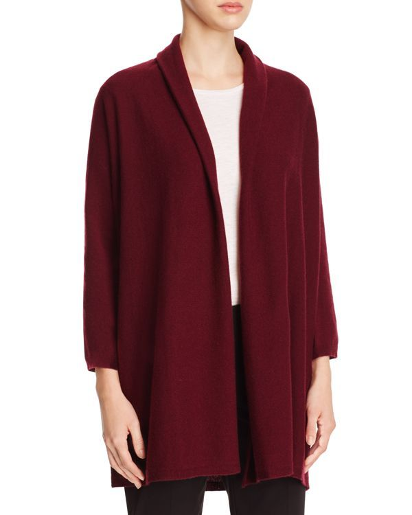 Eileen Fisher Open Front Cashmere Cardigan