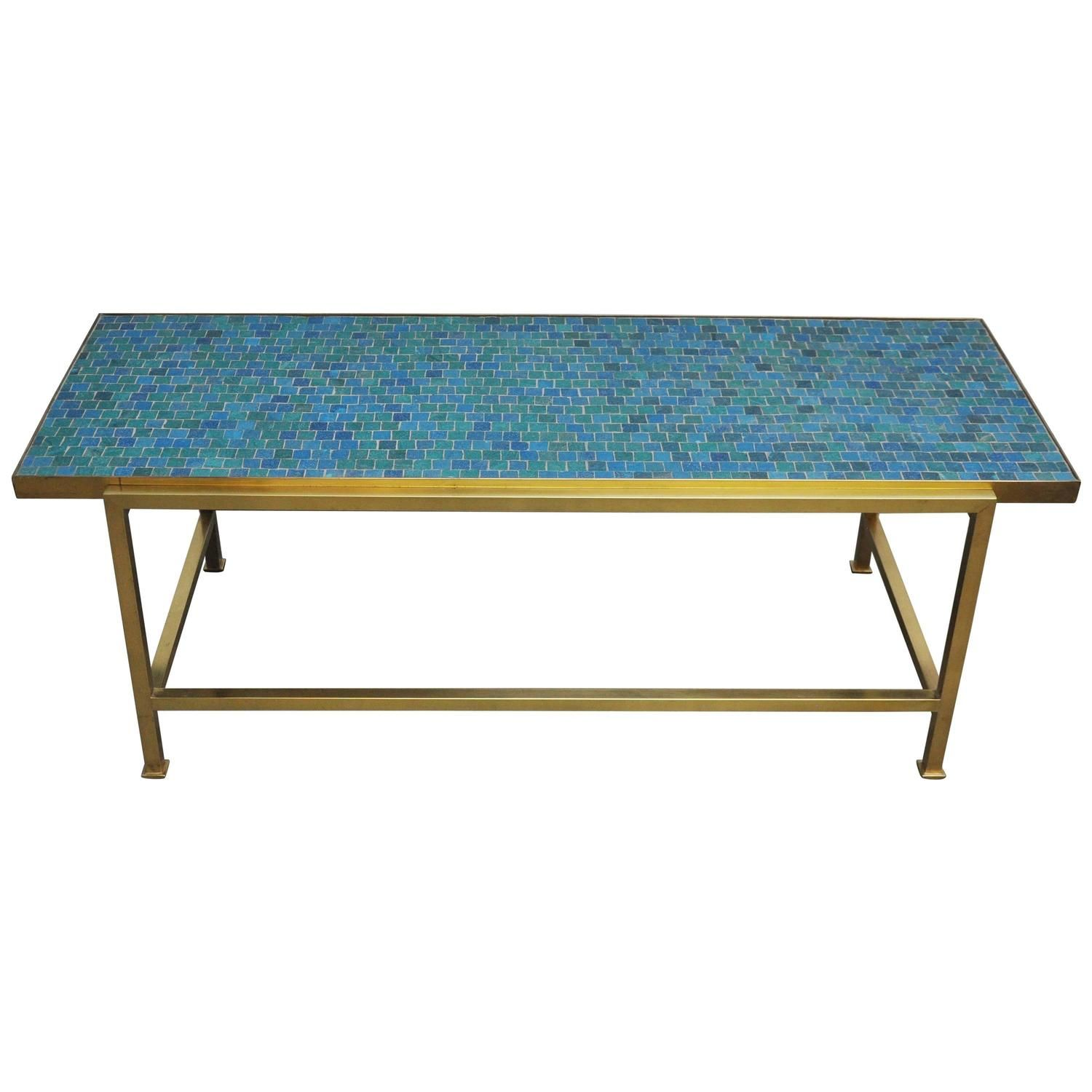 Dunbar Mosaic Murano Glass Tile Coffee Table by Edward Wormley