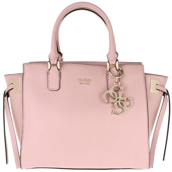 Guess Handle Bag Digital Status Satchel Pink In Rose