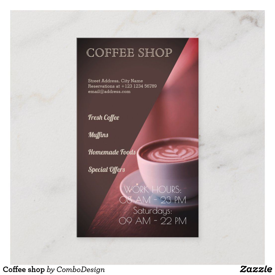 Coffee Shop Business Card Zazzle Com In 2020 Coffee Shop Business Card Coffee Shop Business Coffee Shop