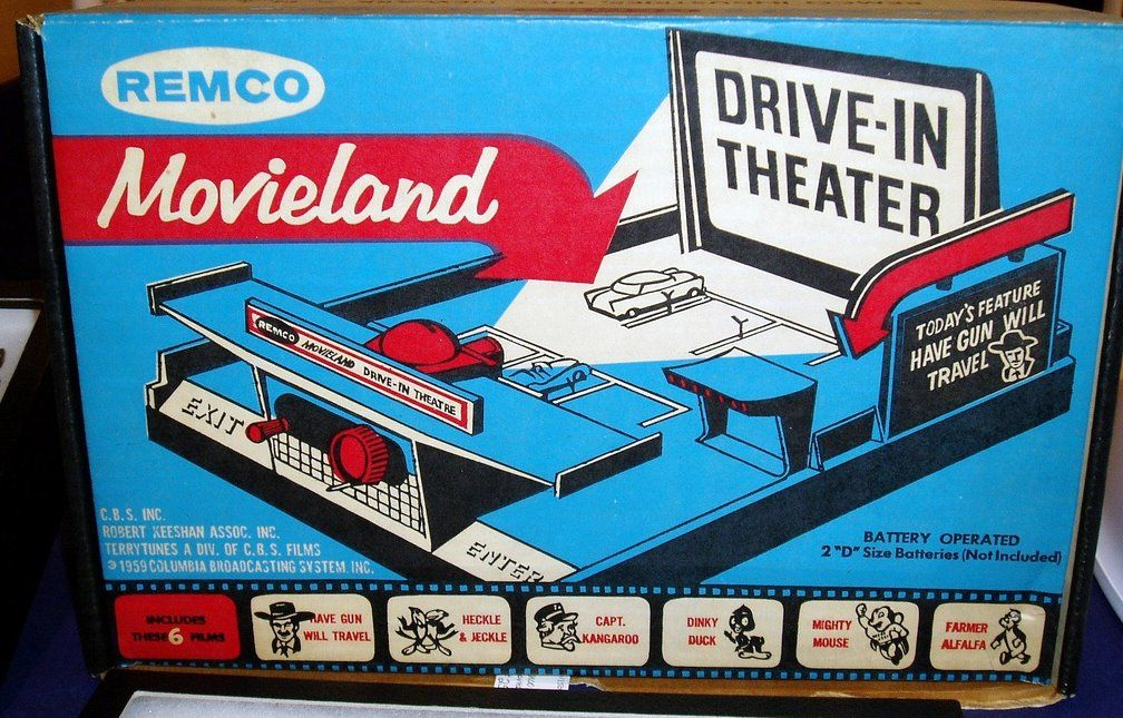 Remco Movieland Drive In Theater Drive In Theater Drive In Movie Theater Toy Garage