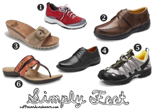 Need to get youself (or your parents) some new shoes for the holidays? Choose Simply Feet! Read about these shoes over at http://www.coffeeandcashmere.com/2013/11/simply-feet.html #shoes #comfy #coffeeandcashmere #sponsor #blog #blogger #simplyfeet #tennisshoes #sandals #feelgood