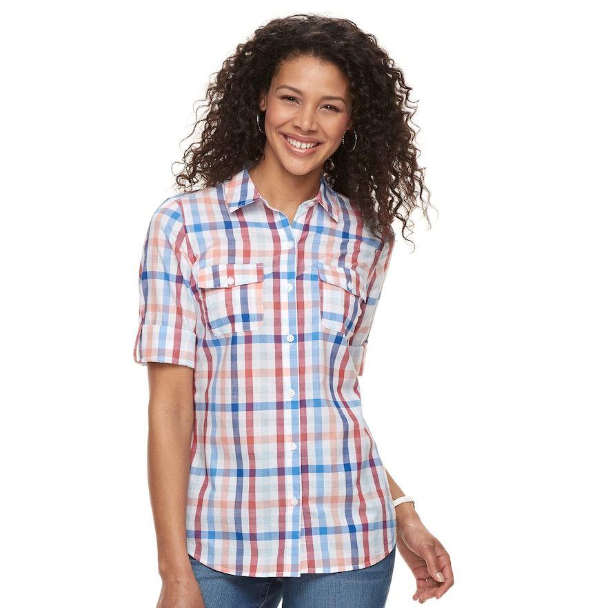 b9e25e5b7eed2 Women s Croft   Barrow® Roll-Tab Woven Shirt