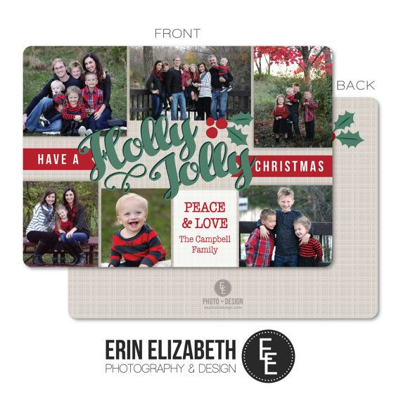 I love this custom photo collage Christmas Card!  Perfect for the Holidays.