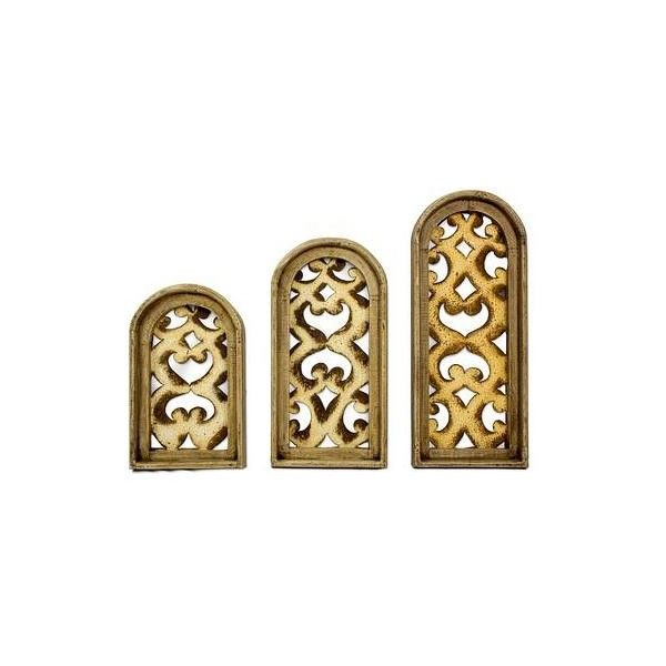 Novica Hand Crafted Sheet Metal And Wood Wall Panels Set Of 3 Handmade Wall Art Three Piece Wall Art Sheet Metal Wall