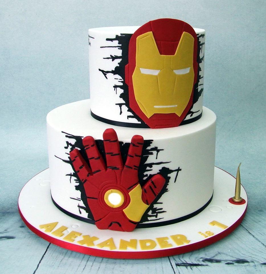 Iron Man Cake Iron Man Birthday Ironman Cake Birthday Cake Kids