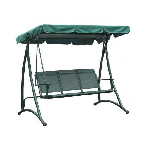 Green Garden Swing Chair Outdoor Metal Furniture Hammock Seat Canopy Sun Shade
