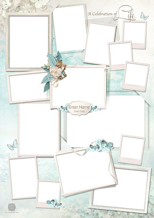 Tranquil Collage Design Template FRENCH BLUE EVENT IDEAS